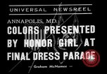 Image of final dress parade Annapolis Maryland USA, 1938, second 4 stock footage video 65675072645