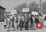 Image of cannery labors strike Racine Wisconsin USA, 1938, second 7 stock footage video 65675072649