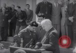 Image of President Harry S Truman presents Medals of Honor Washington DC USA, 1952, second 32 stock footage video 65675072673