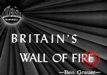 Image of fire wall off English coast to prevent German invasion United Kingdom, 1945, second 1 stock footage video 65675072721