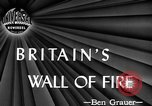 Image of fire wall off English coast to prevent German invasion United Kingdom, 1945, second 2 stock footage video 65675072721