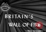Image of fire wall off English coast to prevent German invasion United Kingdom, 1945, second 3 stock footage video 65675072721