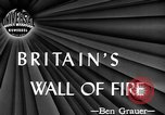 Image of fire wall off English coast to prevent German invasion United Kingdom, 1945, second 4 stock footage video 65675072721