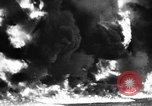 Image of fire wall off English coast to prevent German invasion United Kingdom, 1945, second 22 stock footage video 65675072721