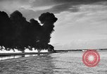 Image of fire wall off English coast to prevent German invasion United Kingdom, 1945, second 40 stock footage video 65675072721