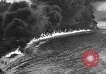 Image of fire wall off English coast to prevent German invasion United Kingdom, 1945, second 48 stock footage video 65675072721