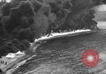 Image of fire wall off English coast to prevent German invasion United Kingdom, 1945, second 50 stock footage video 65675072721
