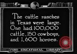 Image of cattle ranch United States USA, 1922, second 54 stock footage video 65675072780