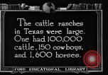 Image of cattle ranch United States USA, 1922, second 55 stock footage video 65675072780