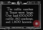 Image of cattle ranch United States USA, 1922, second 56 stock footage video 65675072780