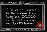 Image of cattle ranch United States USA, 1922, second 59 stock footage video 65675072780