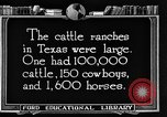 Image of cattle ranch United States USA, 1922, second 60 stock footage video 65675072780