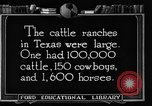 Image of cattle ranch United States USA, 1922, second 62 stock footage video 65675072780
