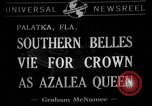 Image of beauty pageant Palatka Florida USA, 1941, second 1 stock footage video 65675072854