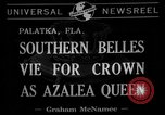 Image of beauty pageant Palatka Florida USA, 1941, second 4 stock footage video 65675072854