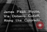 Image of Denver and Rio Grande Western train Colorado United States USA, 1934, second 32 stock footage video 65675072882