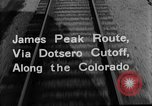 Image of Denver and Rio Grande Western train Colorado United States USA, 1934, second 33 stock footage video 65675072882