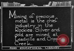 Image of gold panning Leadville Colorado USA, 1922, second 1 stock footage video 65675072890