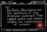 Image of landscapes Rocky Mountains United States USA, 1922, second 1 stock footage video 65675072894