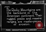 Image of landscapes Rocky Mountains United States USA, 1922, second 3 stock footage video 65675072894