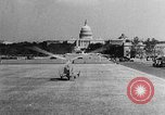 Image of aerobile autogiro demonstration at National Mall Washington DC USA, 1936, second 41 stock footage video 65675072939