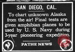 Image of amphibian aircraft San Diego California USA, 1928, second 1 stock footage video 65675072949