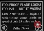 Image of biplane Los Angeles California USA, 1928, second 2 stock footage video 65675072951