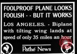 Image of biplane Los Angeles California USA, 1928, second 11 stock footage video 65675072951