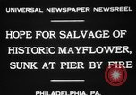 Image of Burned Presidential yacht Mayflower Philadelphia Pennsylvania USA, 1931, second 4 stock footage video 65675072969