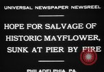 Image of Burned Presidential yacht Mayflower Philadelphia Pennsylvania USA, 1931, second 8 stock footage video 65675072969