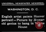 Image of artist paints Washington DC USA, 1931, second 2 stock footage video 65675072971