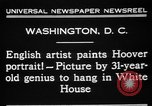 Image of artist paints Washington DC USA, 1931, second 8 stock footage video 65675072971