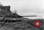 Image of US armor and infantry advancing in Ryukyu Campaign Pacific Theater, 1945, second 14 stock footage video 65675072977