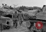 Image of US armor and infantry advancing in Ryukyu Campaign Pacific Theater, 1945, second 57 stock footage video 65675072977