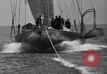 Image of Endeavour I sail boat being towed Newport Rhode Island USA, 1937, second 37 stock footage video 65675073026
