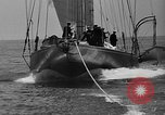 Image of Endeavour I sail boat being towed Newport Rhode Island USA, 1937, second 38 stock footage video 65675073026