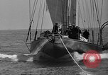 Image of Endeavour I sail boat being towed Newport Rhode Island USA, 1937, second 40 stock footage video 65675073026