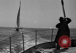 Image of Endeavour I sail boat being towed Newport Rhode Island USA, 1937, second 41 stock footage video 65675073026