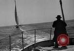 Image of Endeavour I sail boat being towed Newport Rhode Island USA, 1937, second 44 stock footage video 65675073026