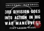 Image of 3rd Army Division troops Fort Lewis Washington USA, 1937, second 6 stock footage video 65675073028