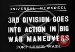 Image of 3rd Army Division troops Fort Lewis Washington USA, 1937, second 9 stock footage video 65675073028