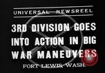 Image of 3rd Army Division troops Fort Lewis Washington USA, 1937, second 10 stock footage video 65675073028