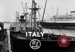 Image of arrival of coal Genoa Italy, 1947, second 3 stock footage video 65675073035