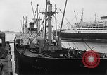 Image of arrival of coal Genoa Italy, 1947, second 8 stock footage video 65675073035