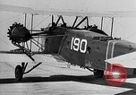 Image of West Point Cadets learn about airplanes at Mitchel Field Hempstead New York USA, 1937, second 34 stock footage video 65675073086