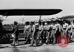 Image of West Point Cadets learn about airplanes at Mitchel Field Hempstead New York USA, 1937, second 37 stock footage video 65675073086