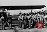 Image of West Point Cadets learn about airplanes at Mitchel Field Hempstead New York USA, 1937, second 39 stock footage video 65675073086