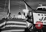 Image of DC-7 christening ceremony San Francisco California USA, 1957, second 8 stock footage video 65675073133