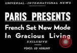 Image of lifestyle France, 1949, second 4 stock footage video 65675073140