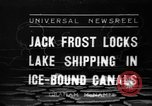 Image of lake freighters Quebec Canada Lachine, 1936, second 1 stock footage video 65675073142